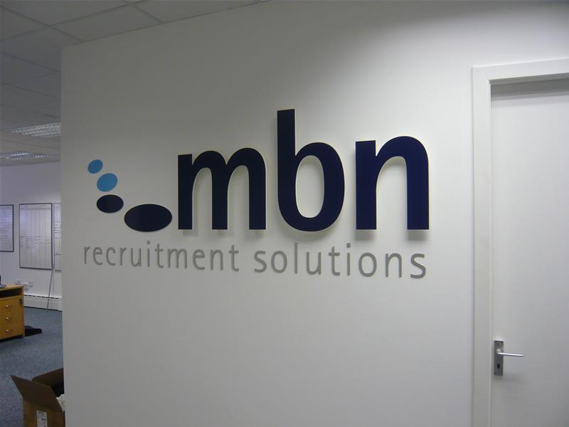 Wall Sign with built up lettering
