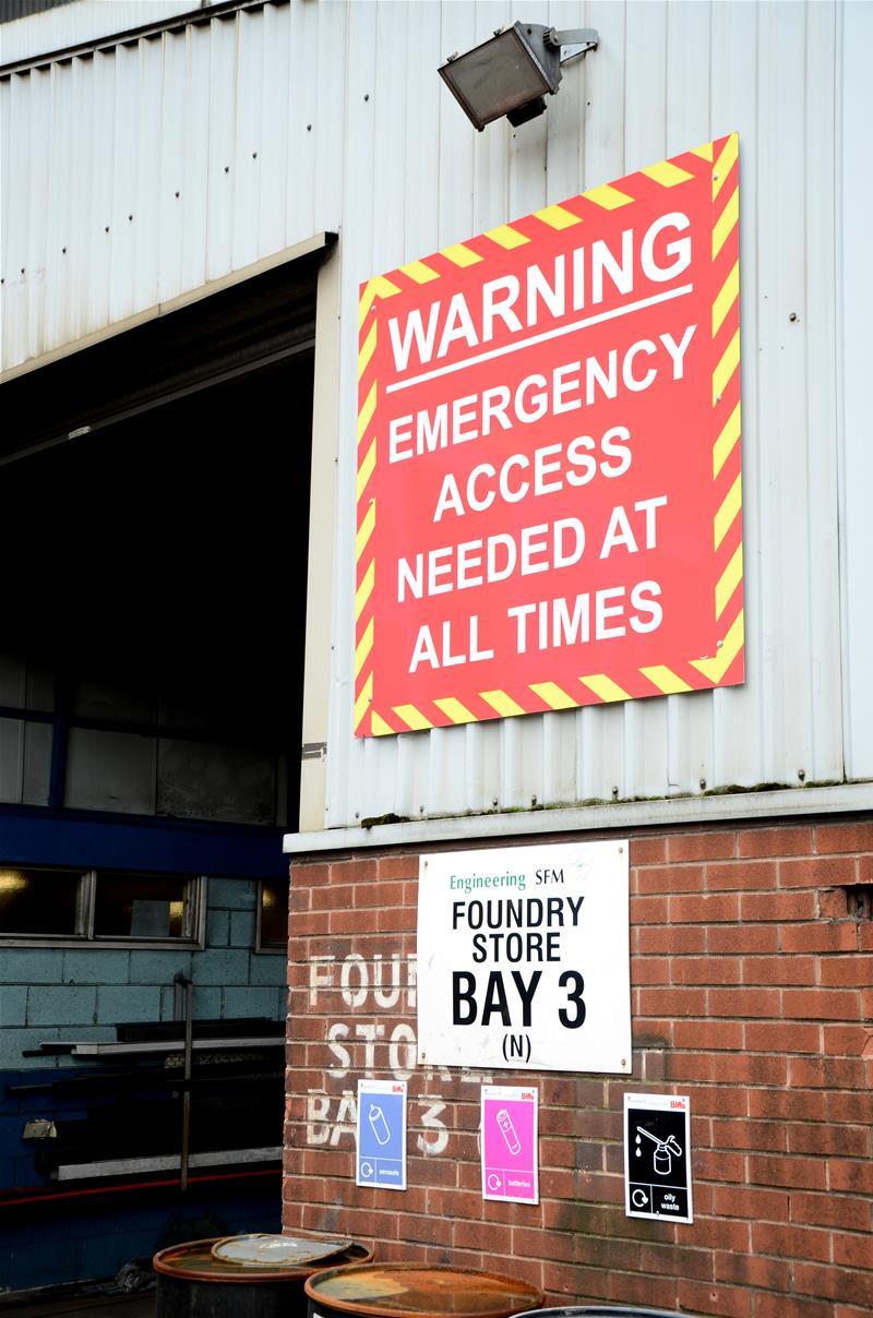 External Safety Sign - Warning