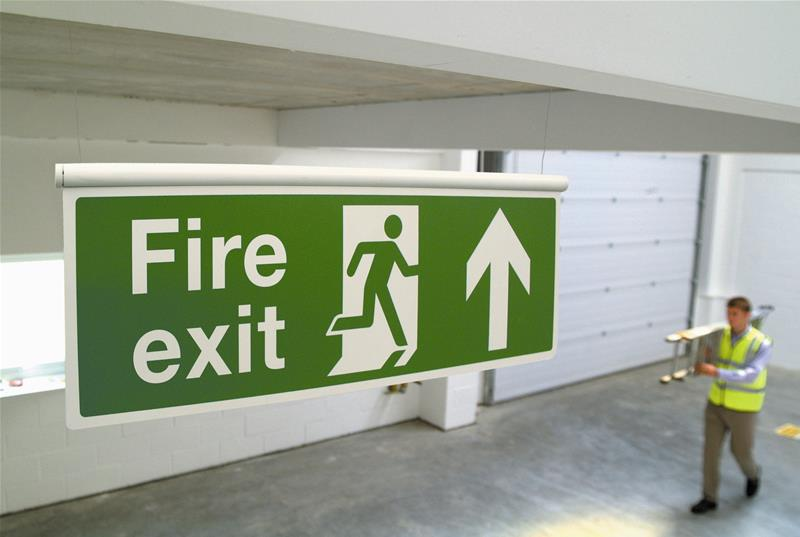 Fire Exit Safety Sign