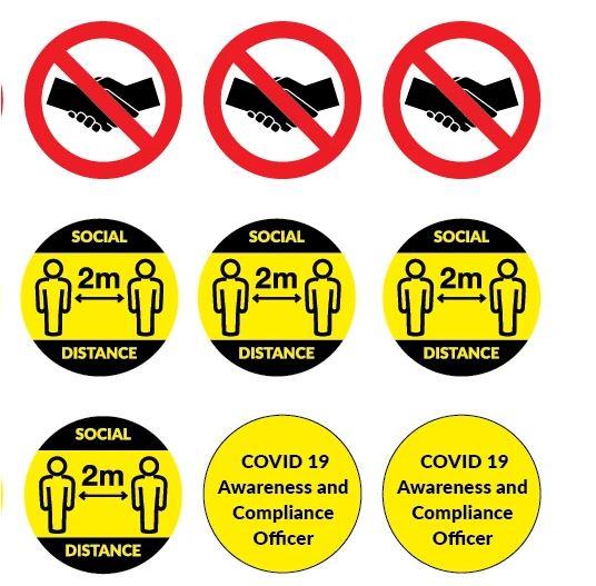 Covid 19 Safety Helmet Sticker Pack